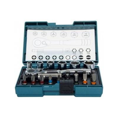 Makita sada bitů a nástrčkových klíčů s ráčnou 21ks